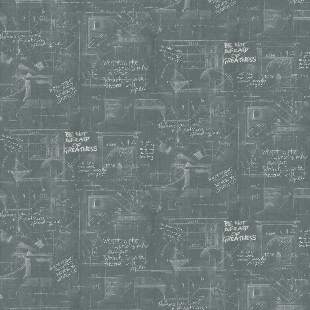 Oxford Wallpaper - Charcoal - by Andrew Martin