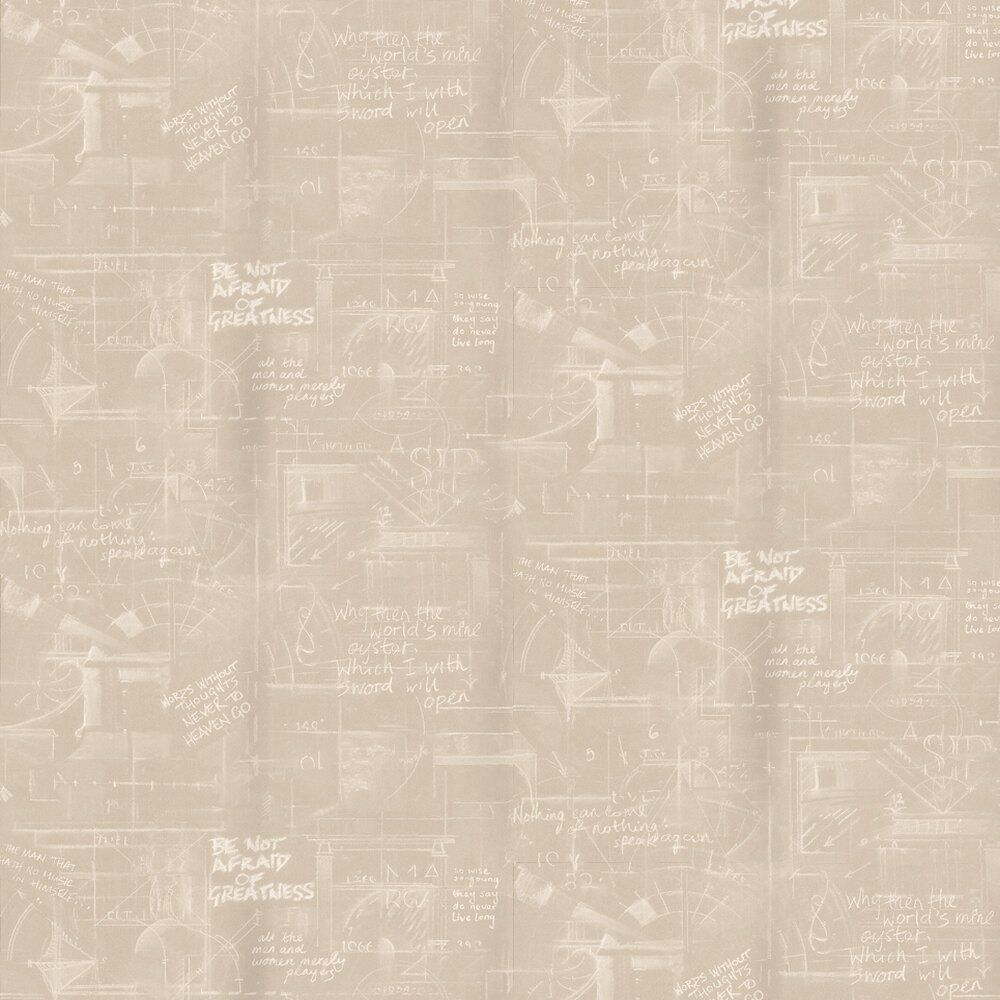 Oxford Wallpaper - Sand - by Andrew Martin