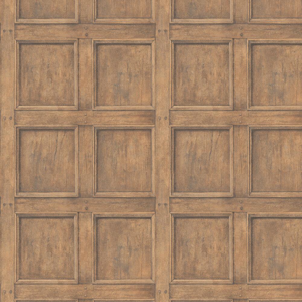 Regent Wallpaper - Light Oak - by Andrew Martin