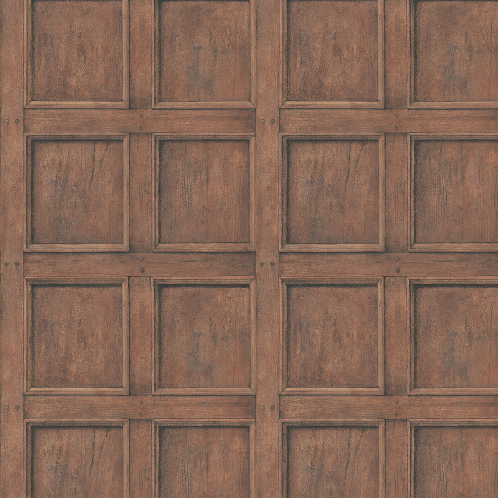 Regent Wallpaper - Oak - by Andrew Martin