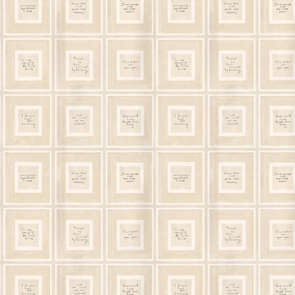 Biography Wallpaper - Linen - by Andrew Martin