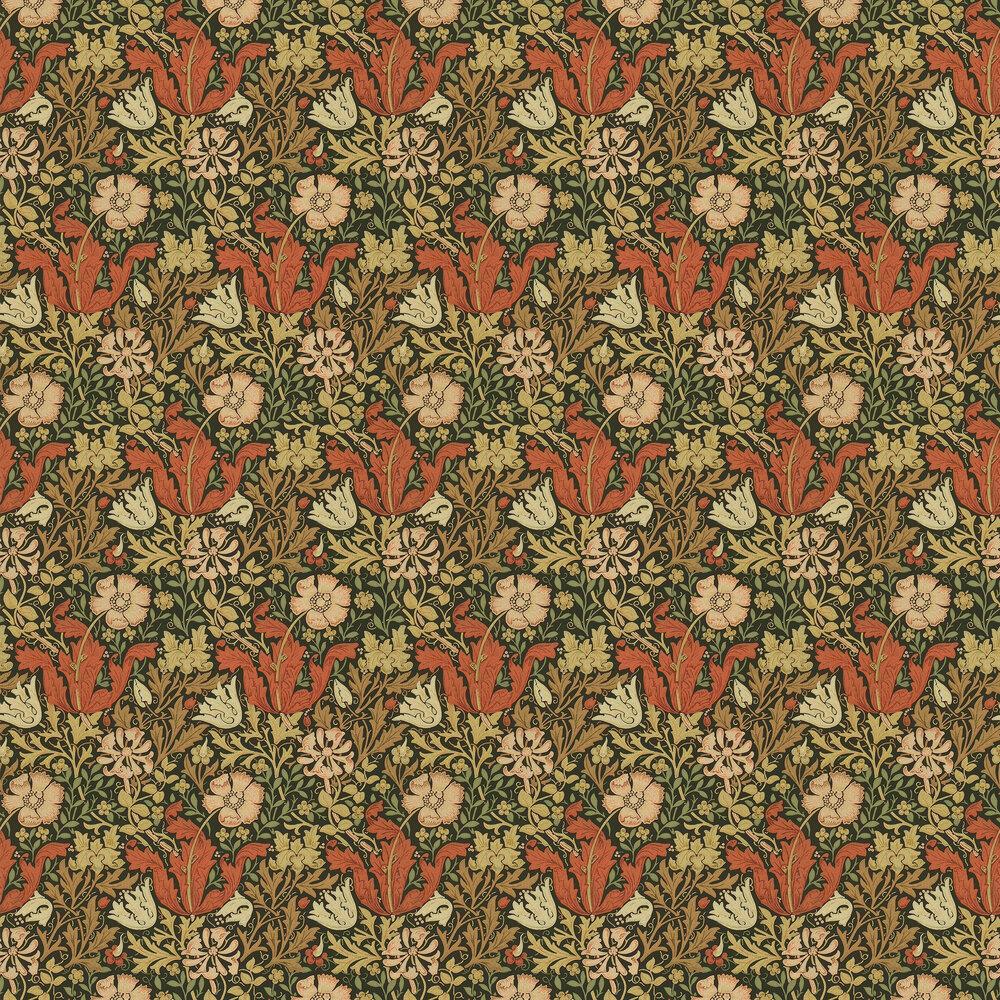 Compton Wallpaper - Brown / Orange - by Morris