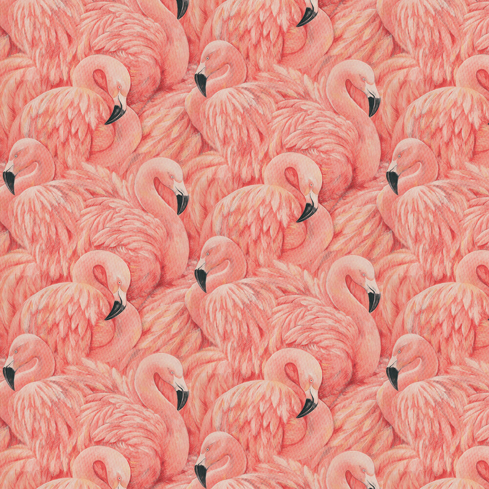 Flamingos Wallpaper - Pink - by Albany