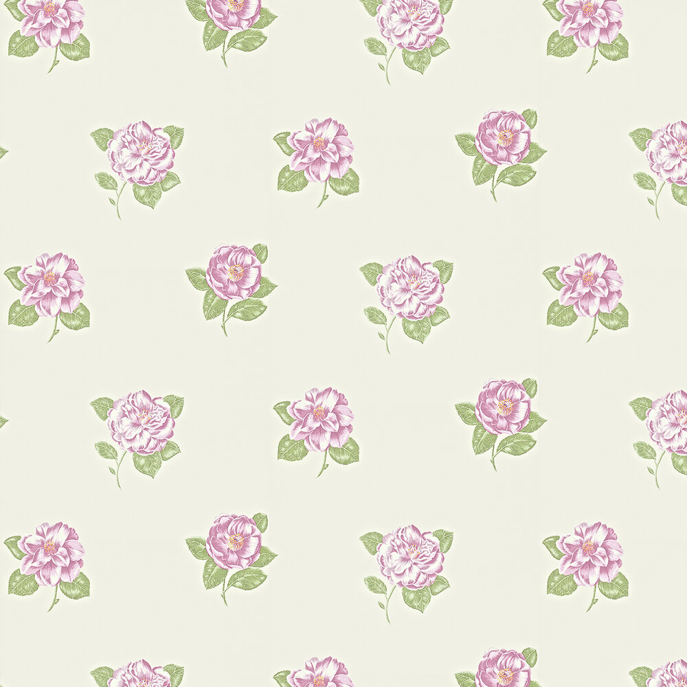 Sanderson Lamorna Ivory / Pink Wallpaper - Product code: 211987