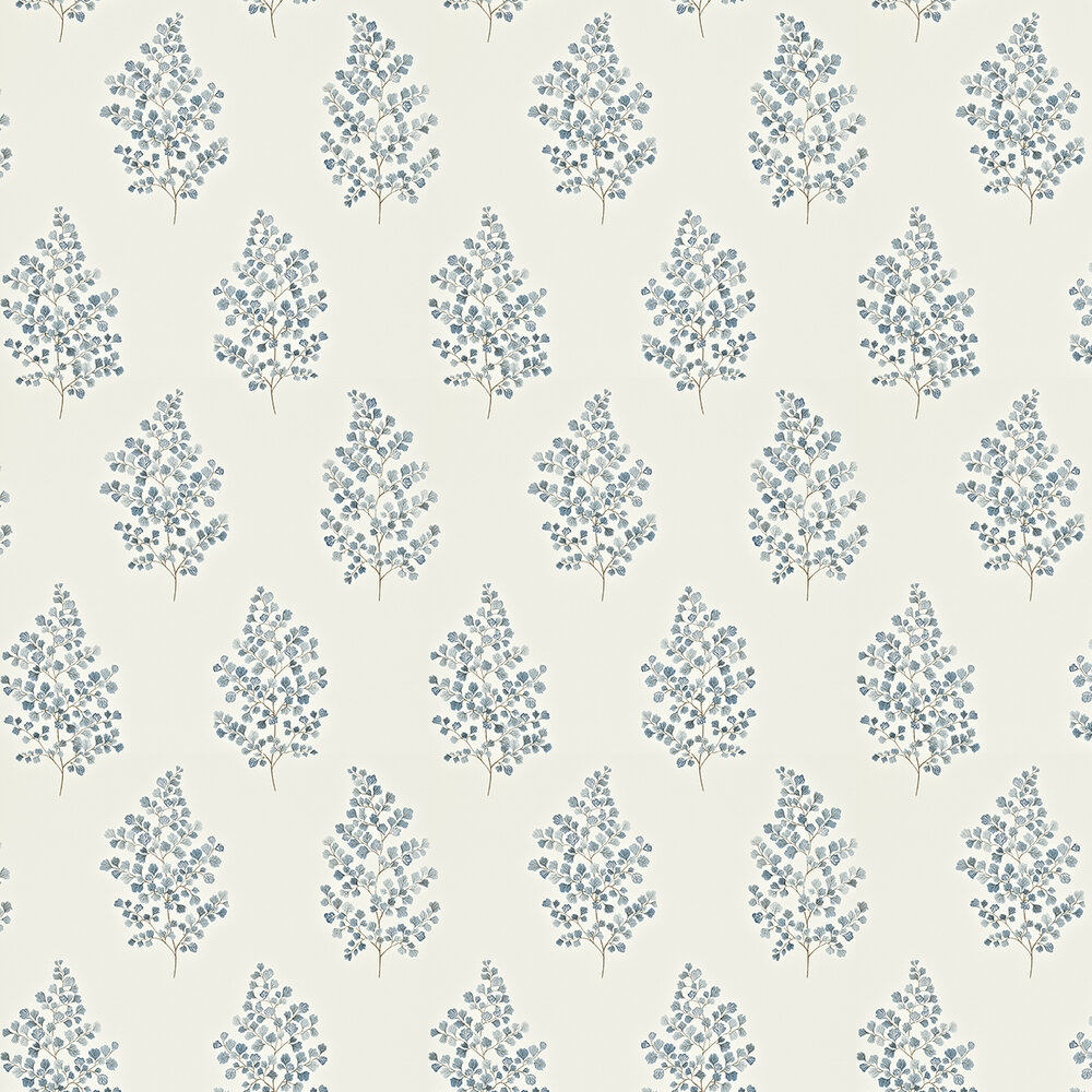 Sanderson Angel Ferns Blue / Off White Wallpaper - Product code: 211996