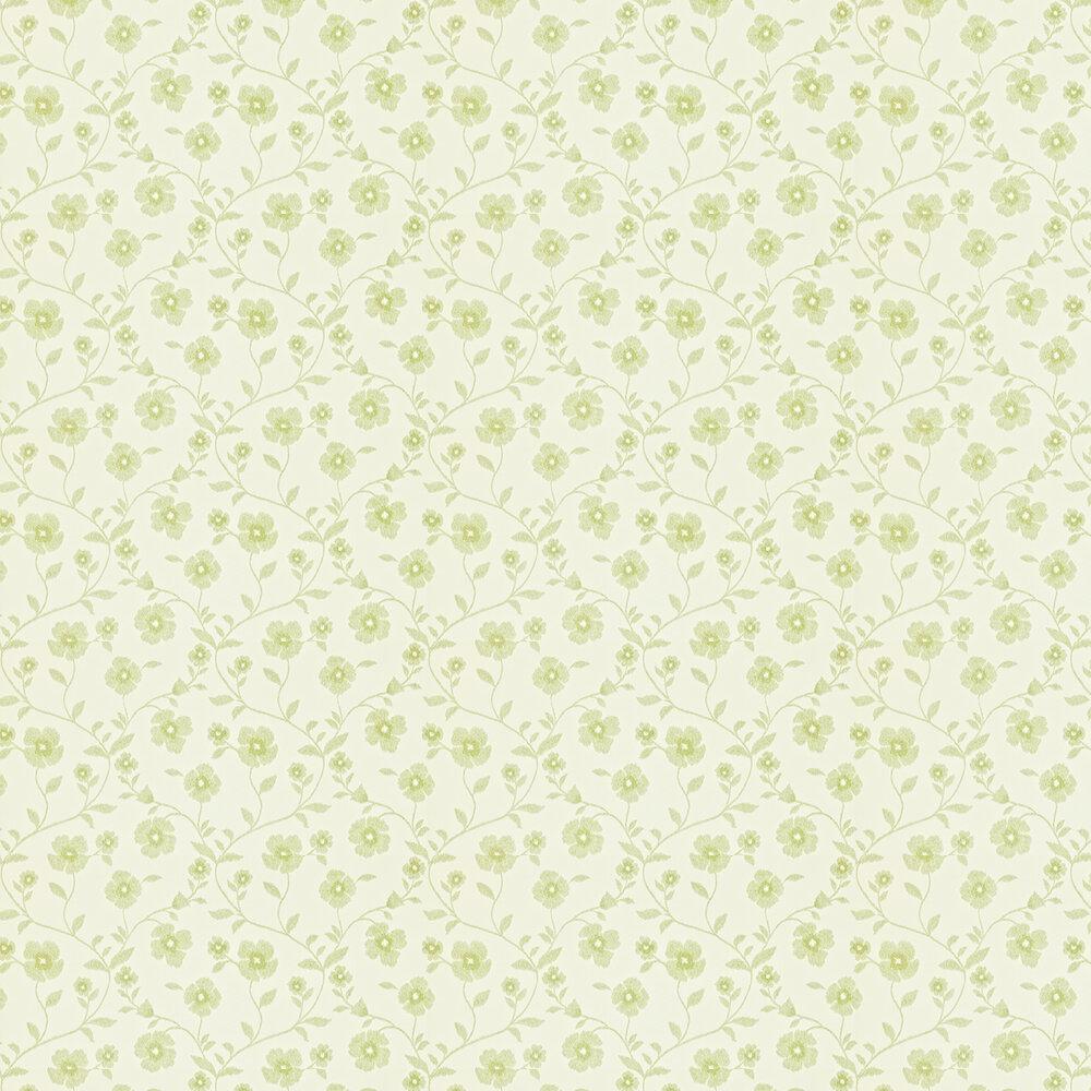 Sanderson Sabine Ivory / Lime Wallpaper - Product code: 212004