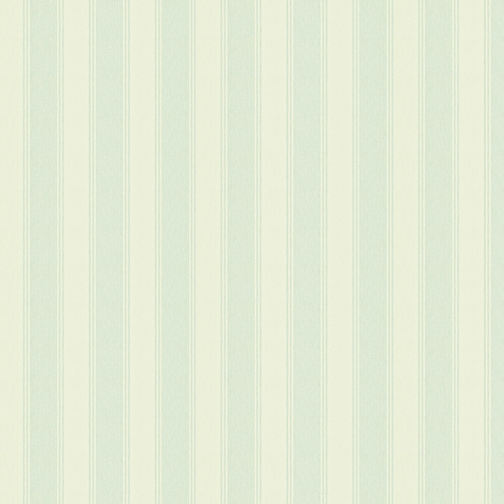 Sanderson Addison Stripe Cream / Duck Egg Wallpaper - Product code: 211977