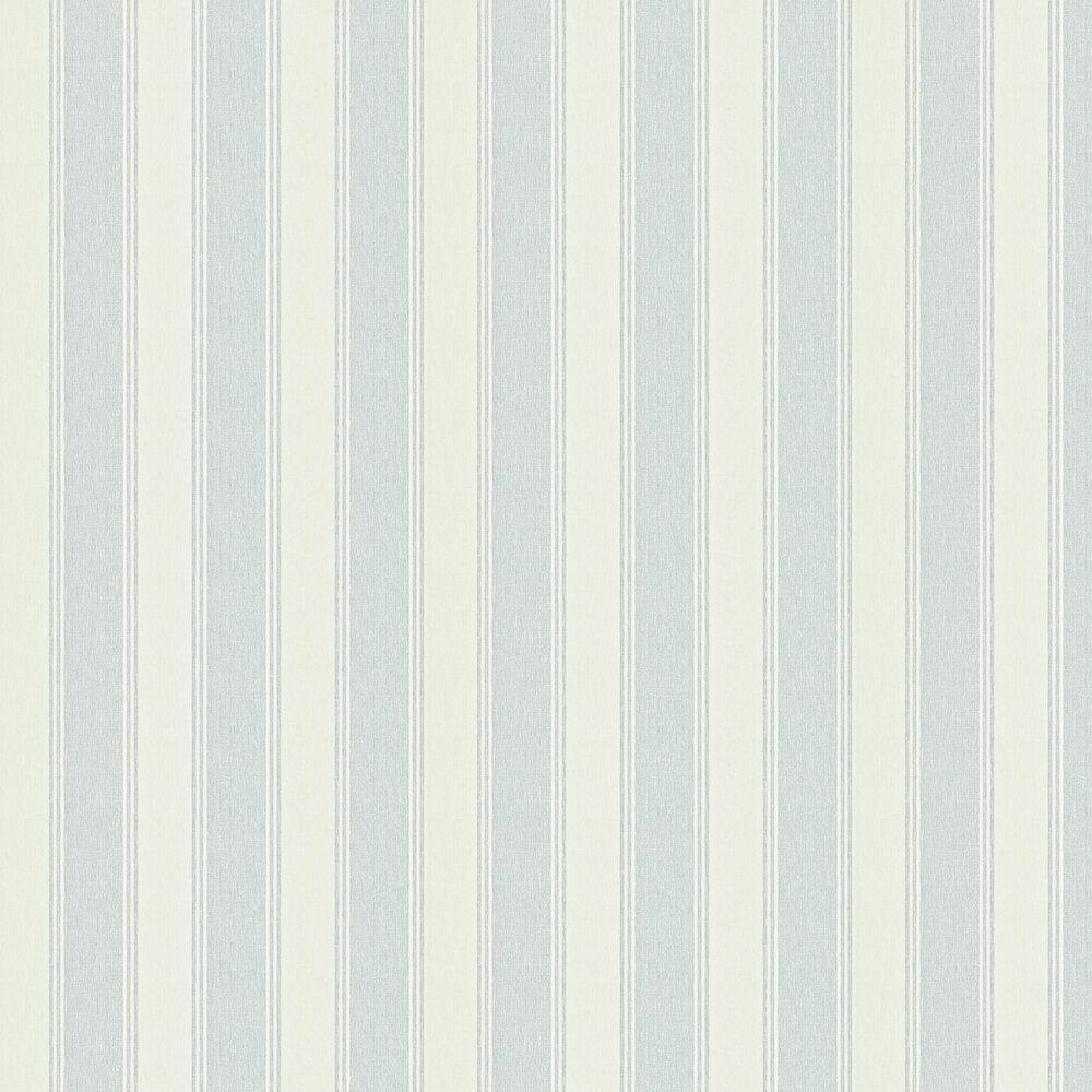 Sanderson Addison Stripe Blue / Cream Wallpaper - Product code: 211974