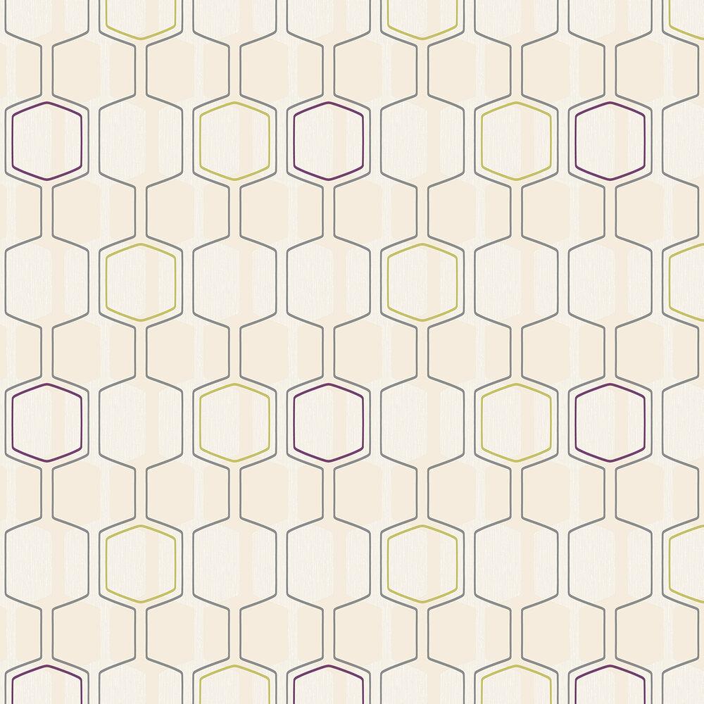 Oscar Wallpaper - Cream  - by Albany