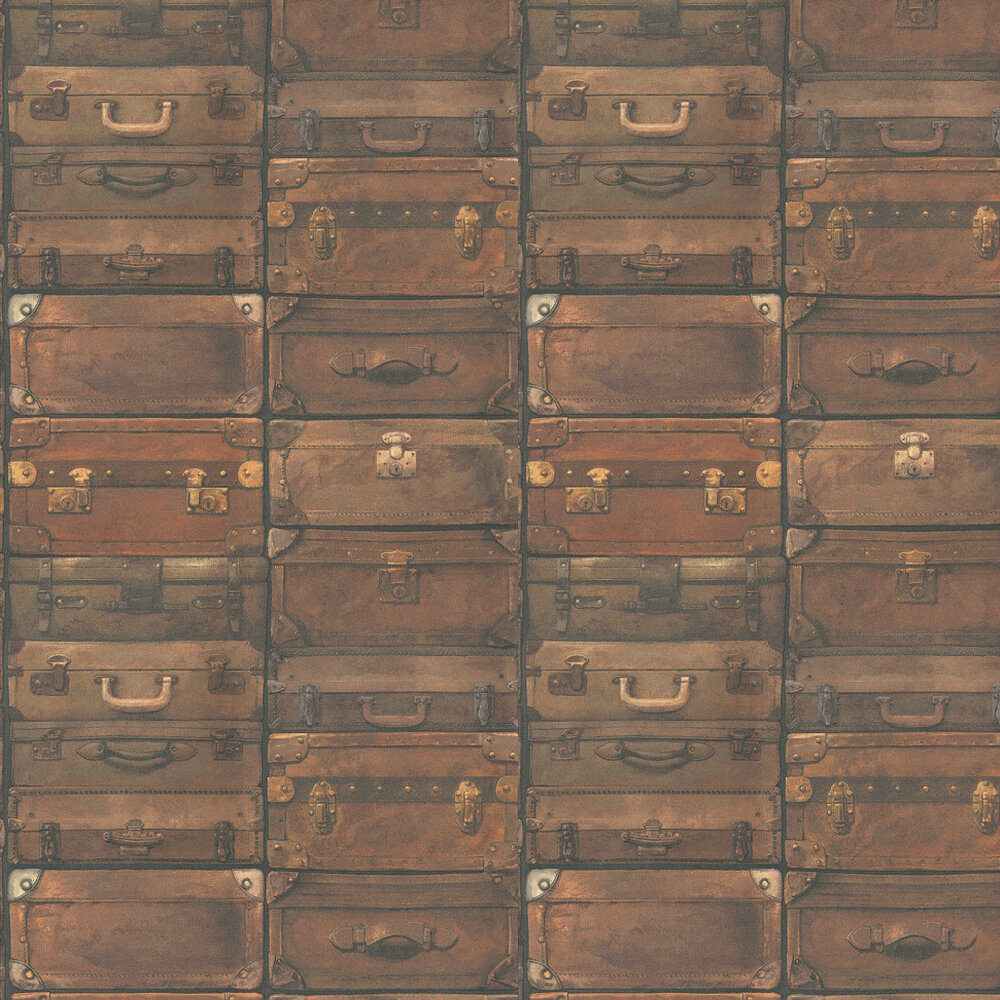 Luggage Wallpaper - Leather - by Andrew Martin