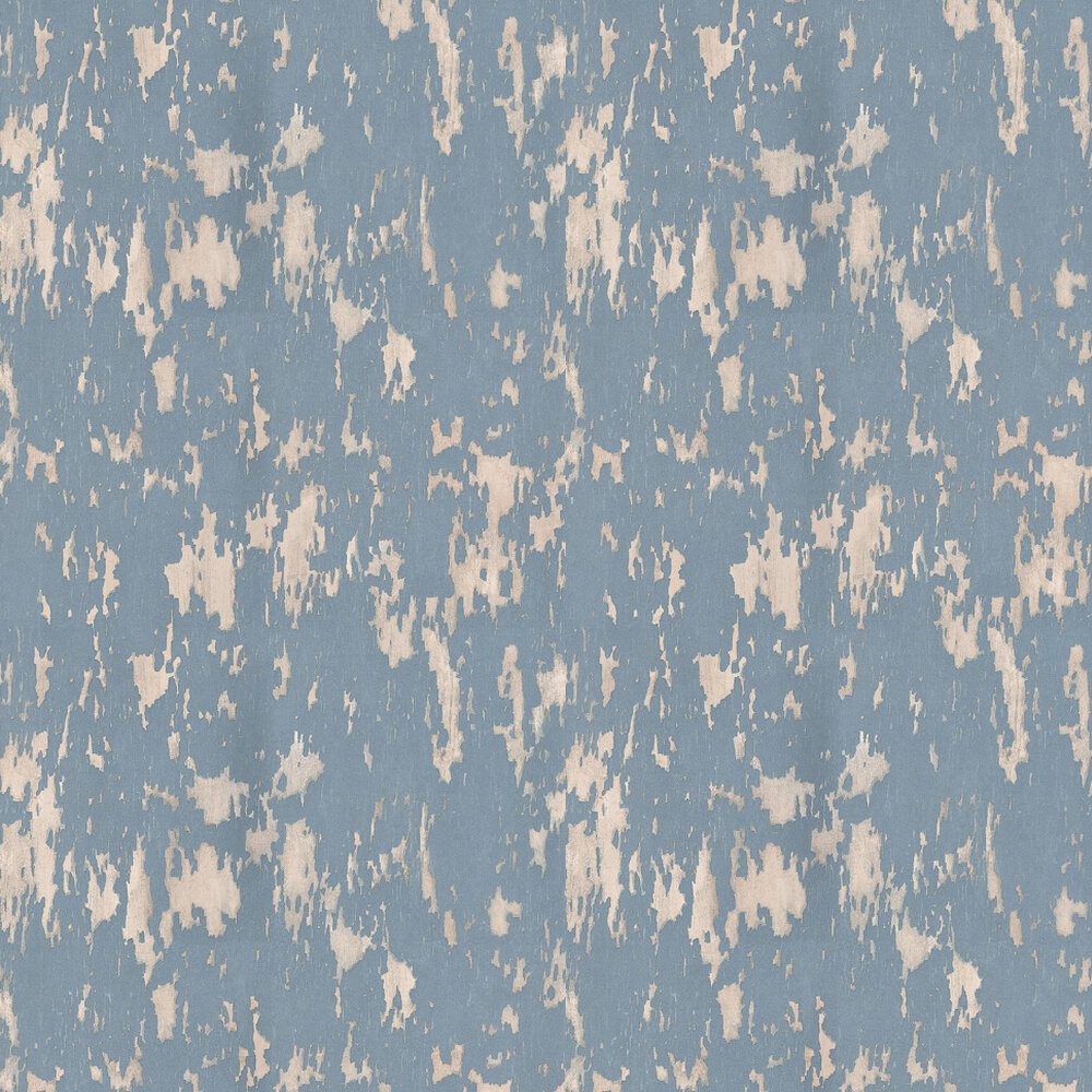 Crackle Wallpaper - Blue - by Andrew Martin