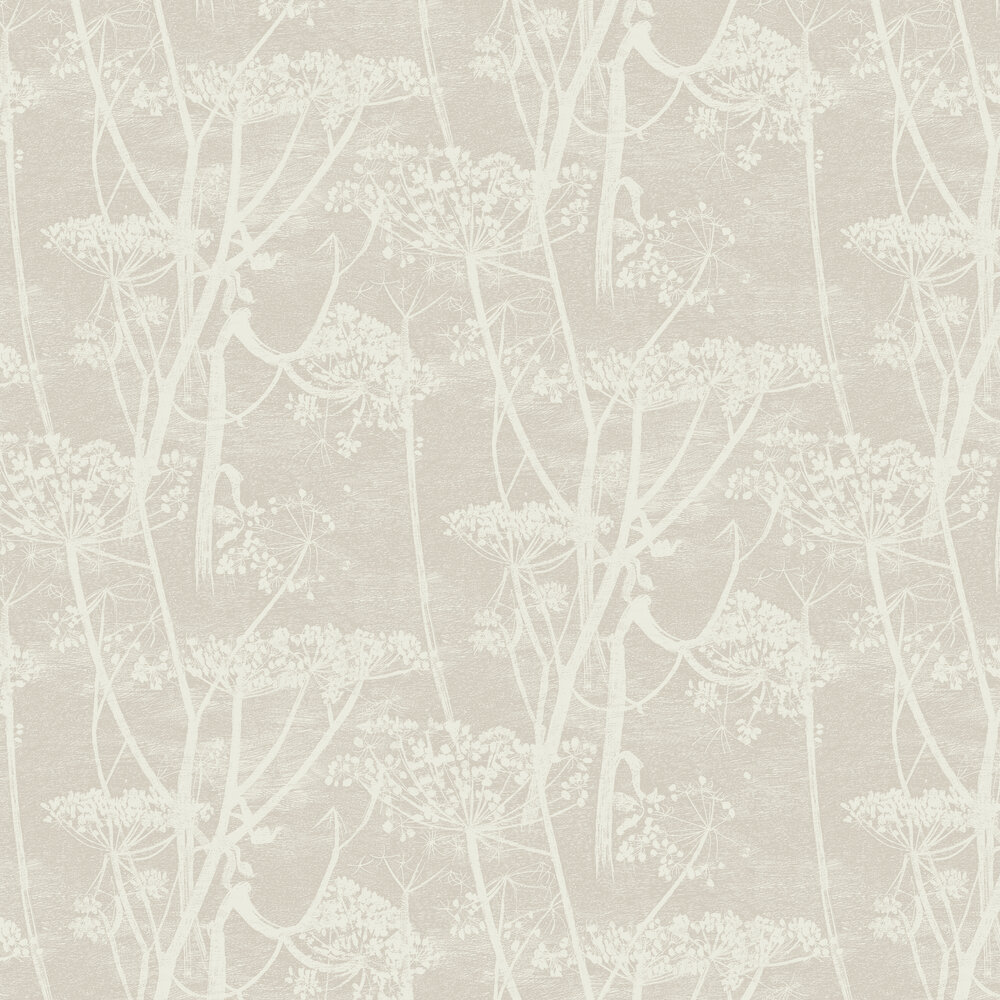 Cow Parsley Wallpaper - Taupe - by Cole & Son