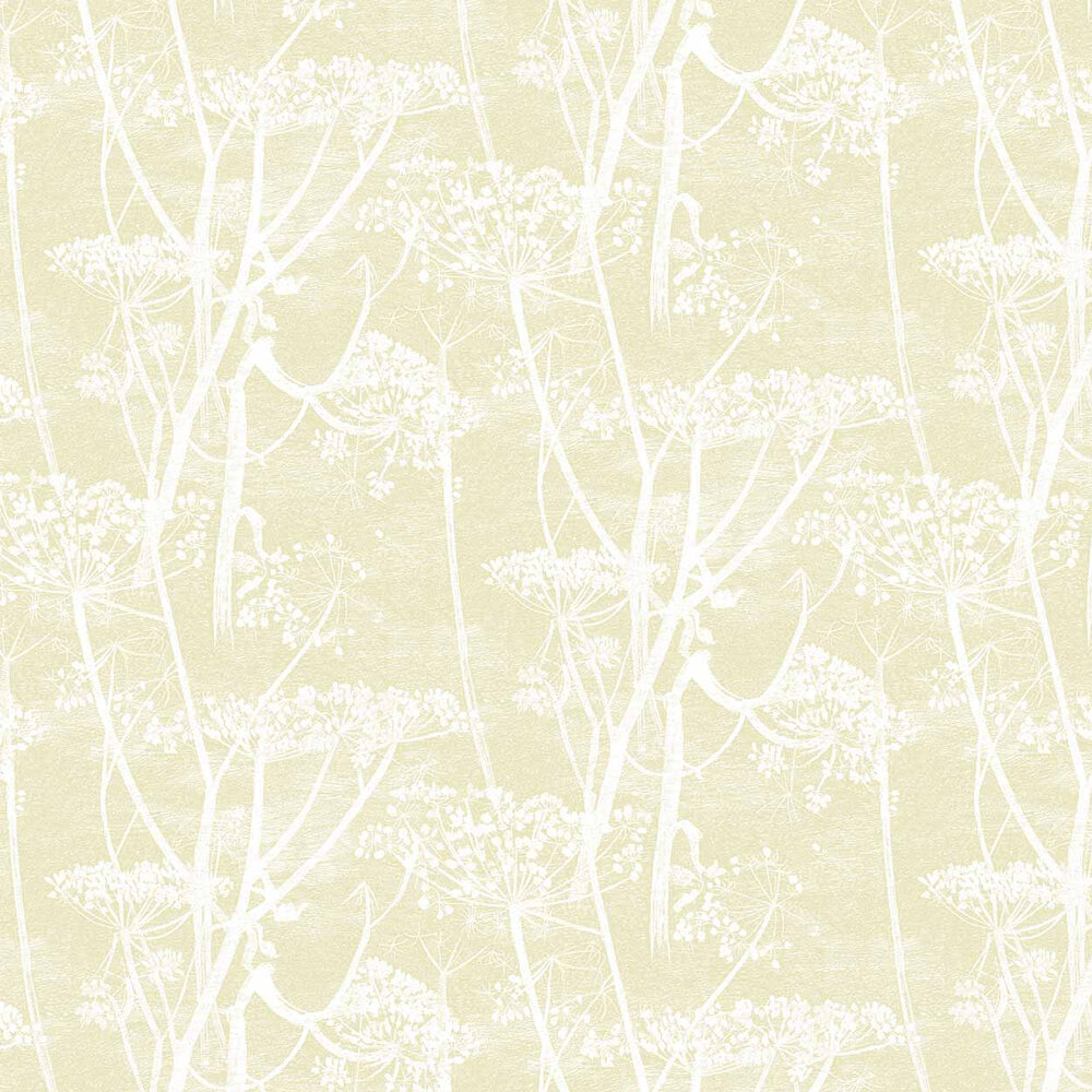 Cow Parsley Wallpaper - Light Gold - by Cole & Son