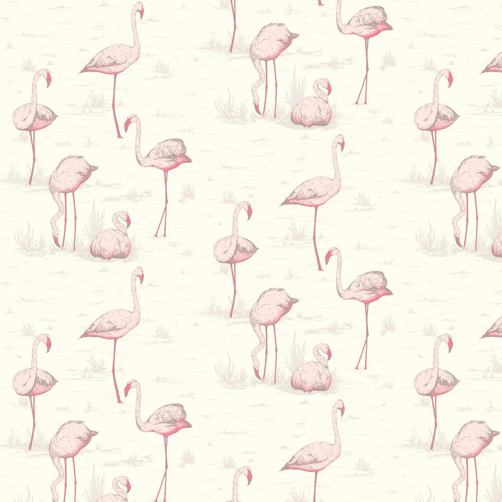 Flamingos Wallpaper - White - by Cole & Son