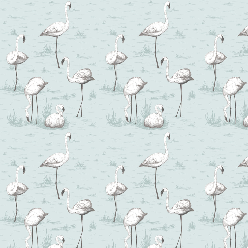 Cole & Son Flamingos Soft Blue Wallpaper - Product code: 95/8047