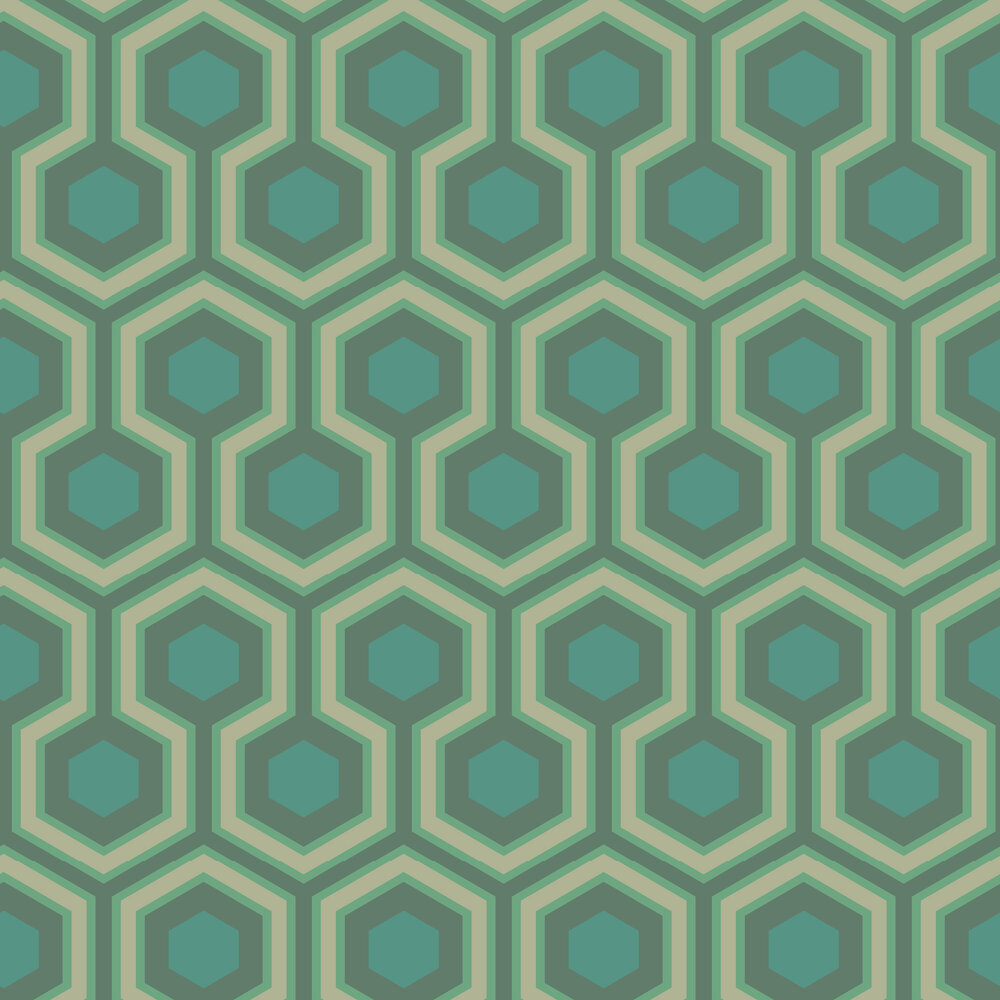 Hicks Grand Wallpaper - Green - by Cole & Son