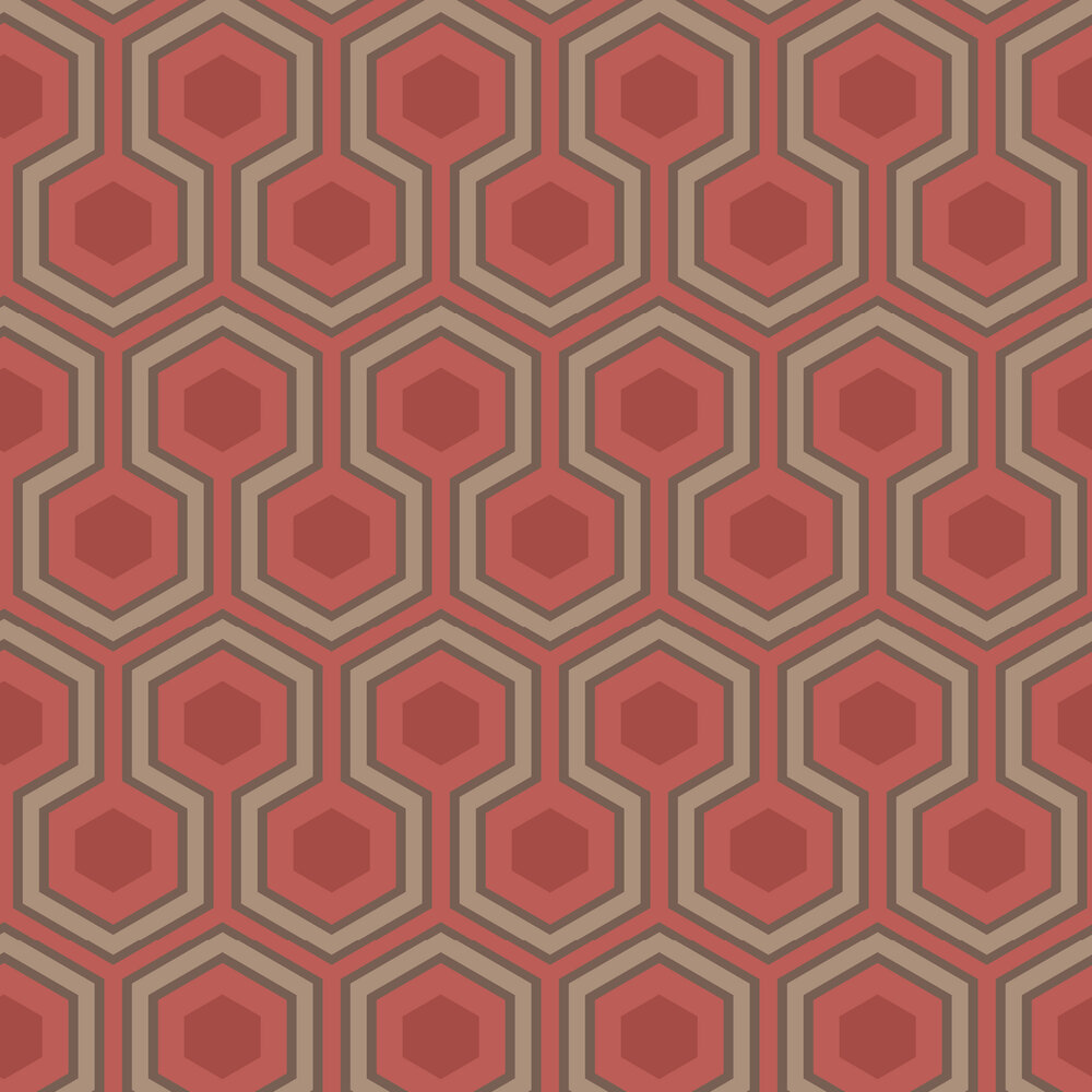 Hicks Grand Wallpaper - Red - by Cole & Son