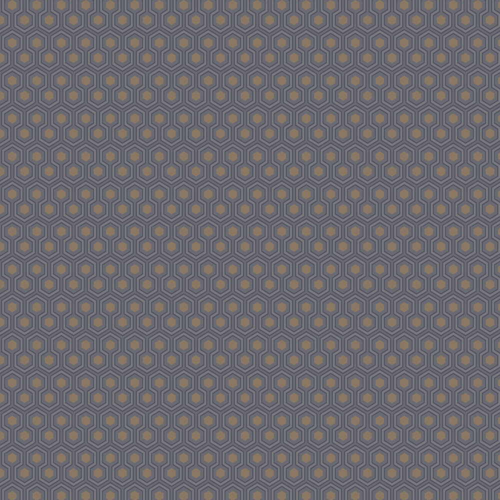 Hicks' Hexagon Wallpaper - Black & Grey - by Cole & Son
