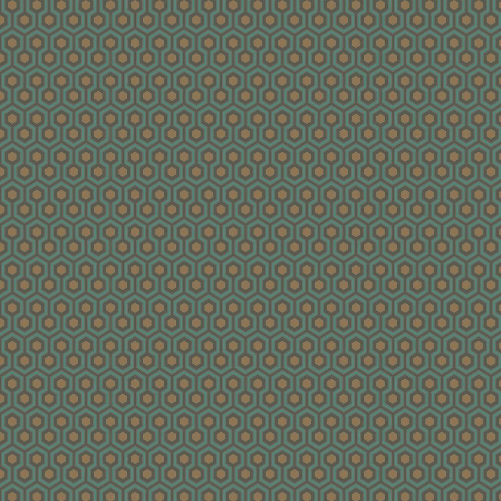 Hicks' Hexagon Wallpaper - Blue & Gold - by Cole & Son