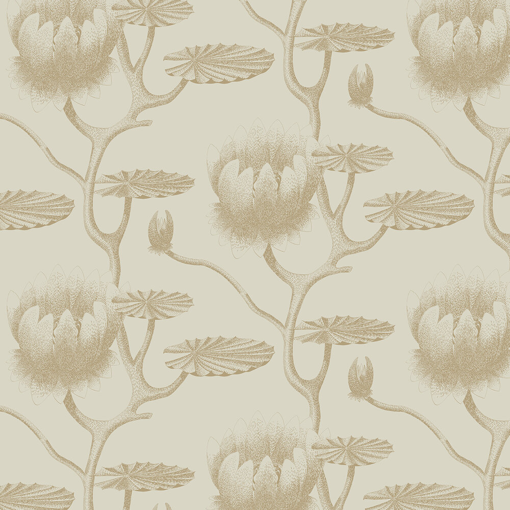 Cole & Son Lily Gold & Linen Wallpaper - Product code: 95/4019