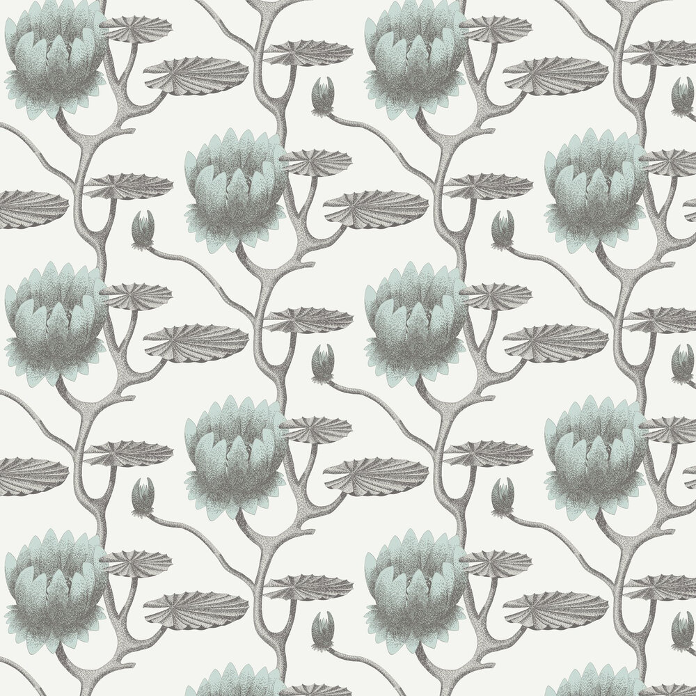 Summer Lily Wallpaper - Blue - by Cole & Son