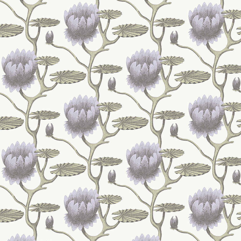 Summer Lily Wallpaper - Lilac - by Cole & Son