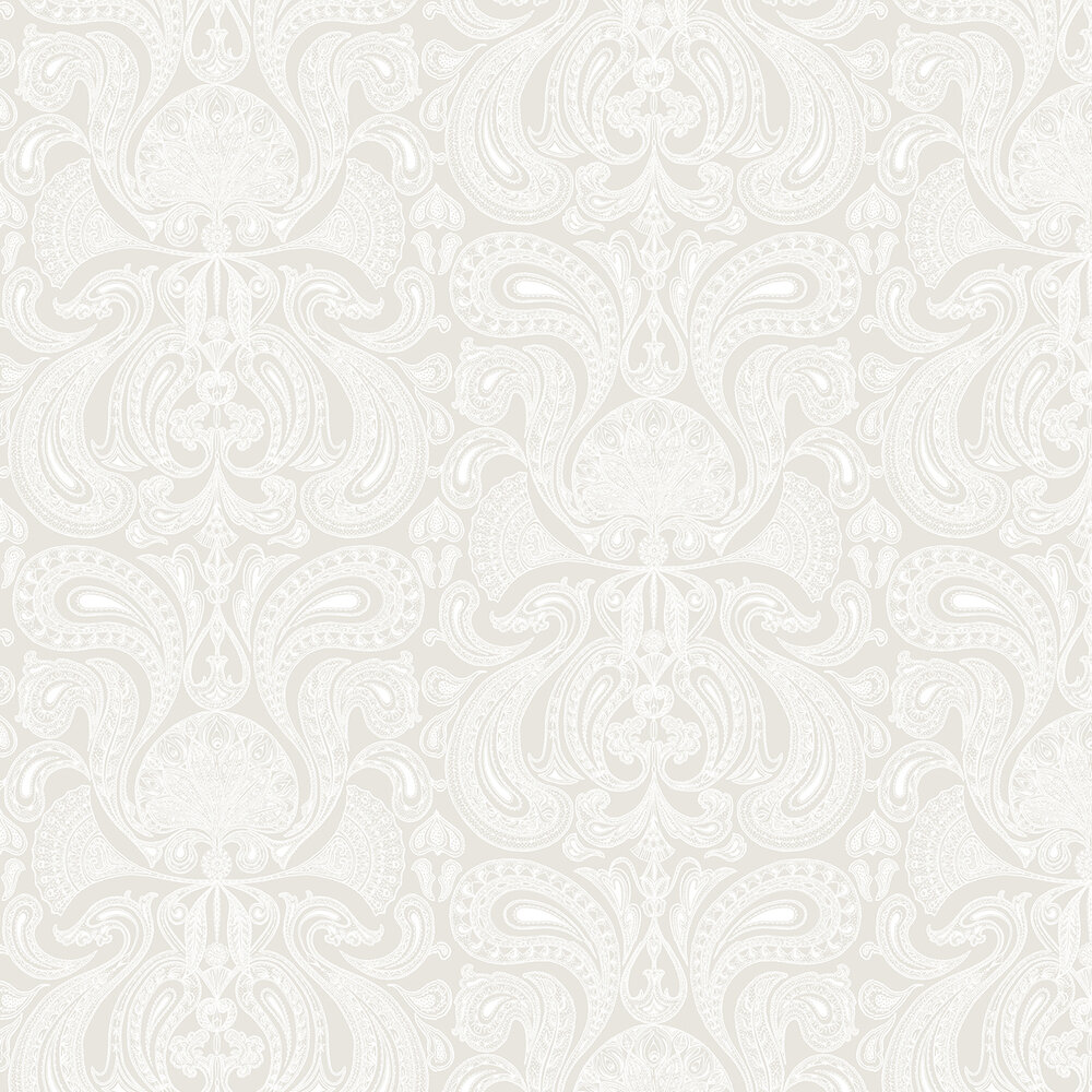 Cole & Son Malabar Soft Grey Wallpaper - Product code: 95/7040