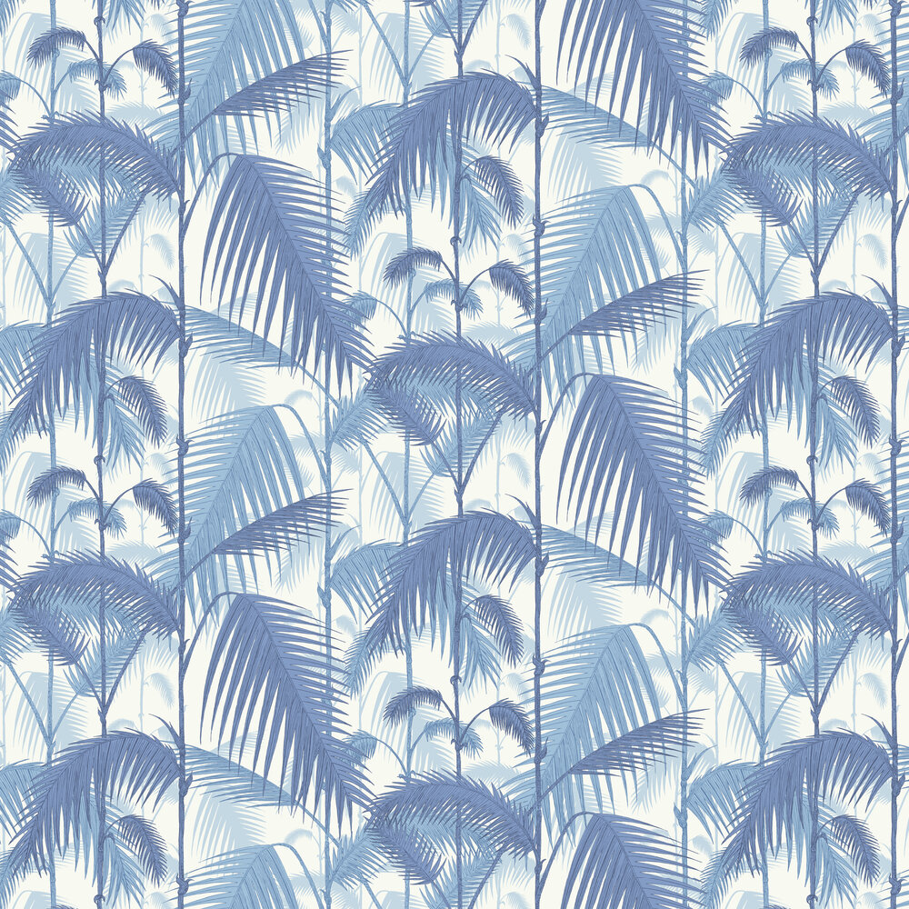 Palm Jungle Wallpaper - China Blue - by Cole & Son