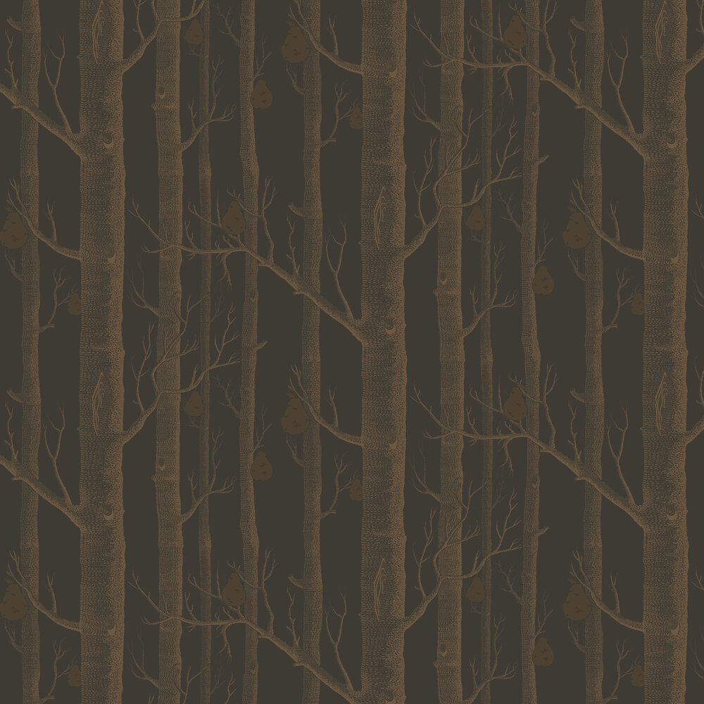 Woods and Pears Wallpaper - Bronze & Black - by Cole & Son