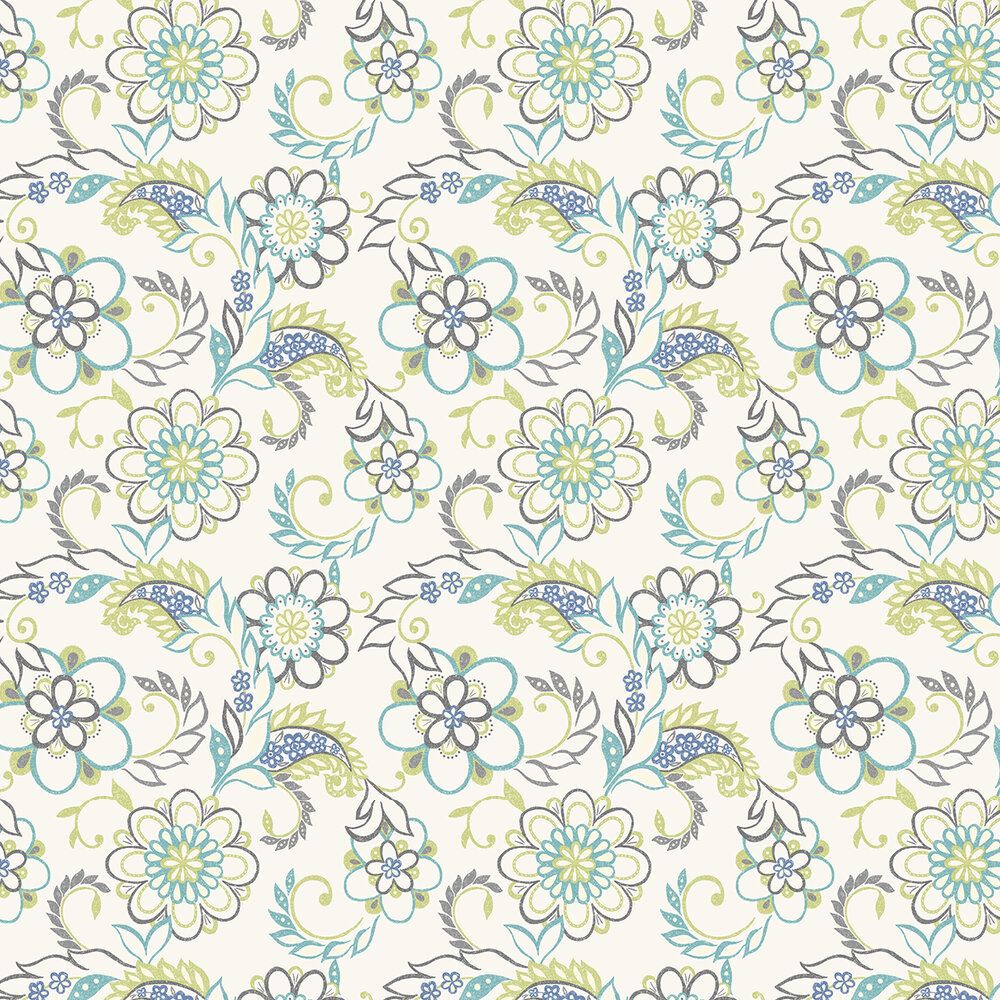 Albany Jane Blue / Green Wallpaper - Product code: 260419