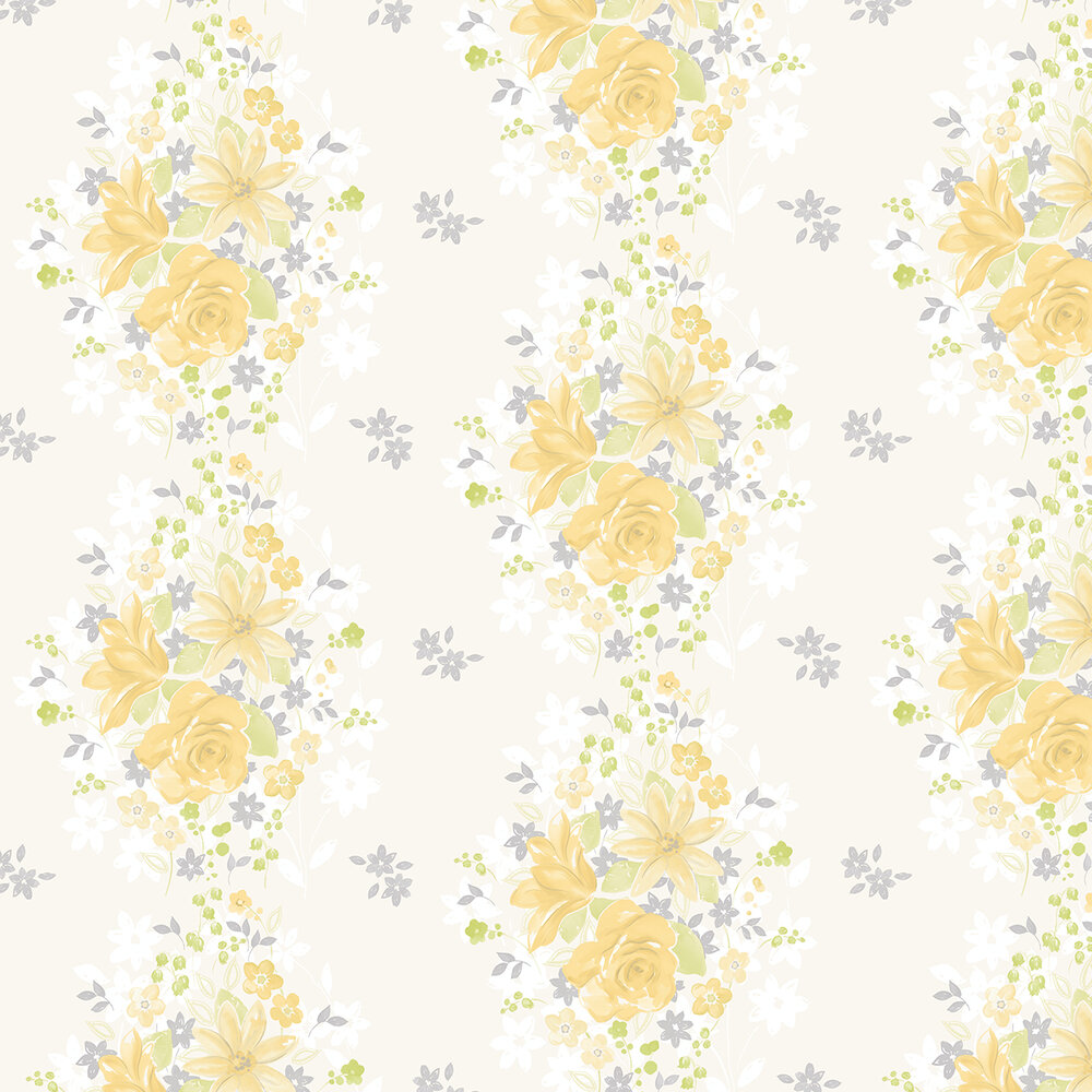 Teresa Wallpaper - Yellow - by Albany