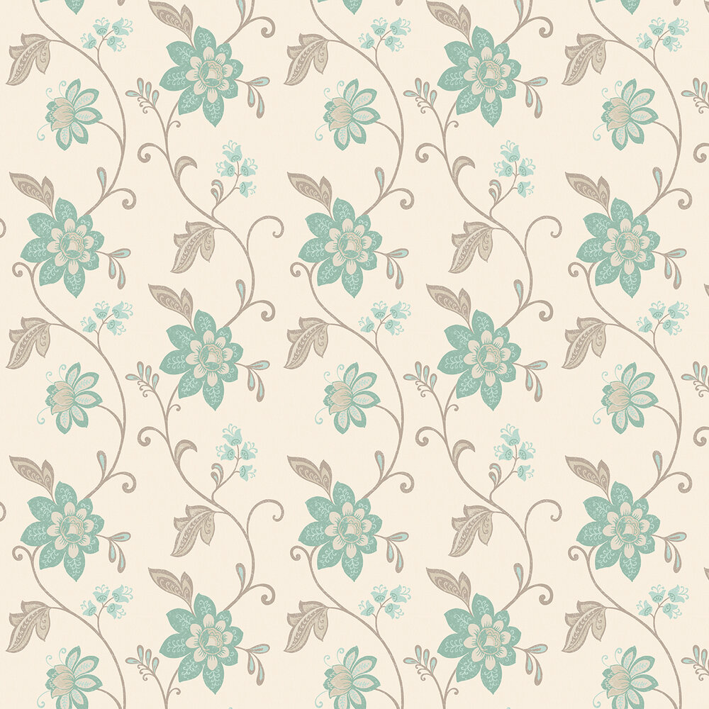 Christina Wallpaper - Duck Egg Blue  - by Albany