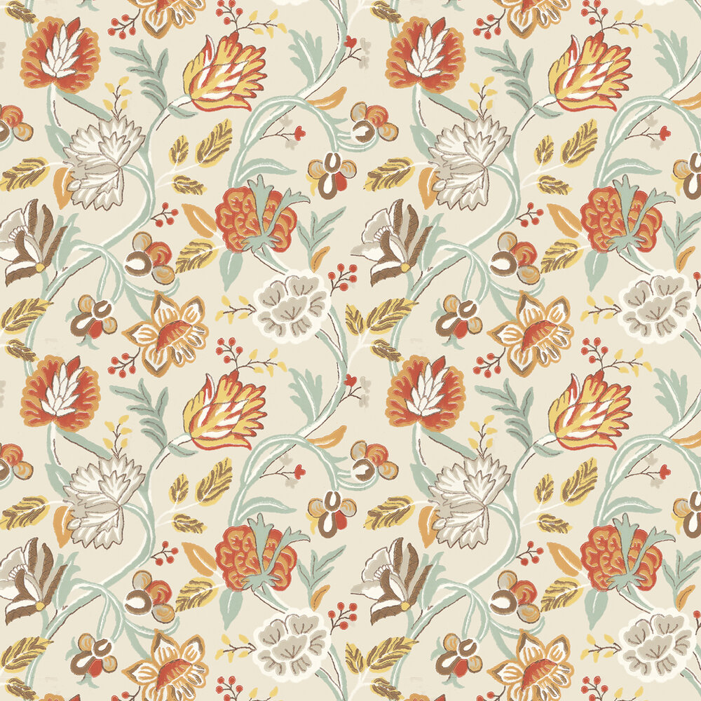 Thibaut Cayman Cream / Orange Wallpaper - Product code: 839-T-4907