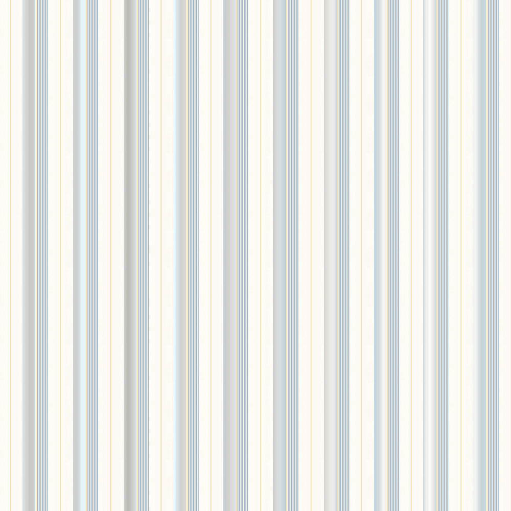 Aiden Stripe Wallpaper - Blue / Yellow - by Ralph Lauren