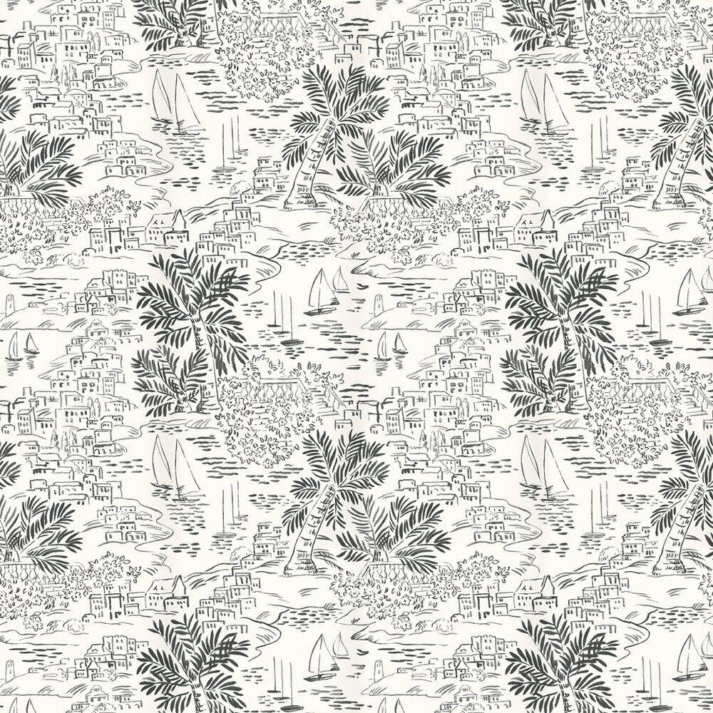 Ralph Lauren Homeport Novelty Black / White Wallpaper - Product code: PRL030/01