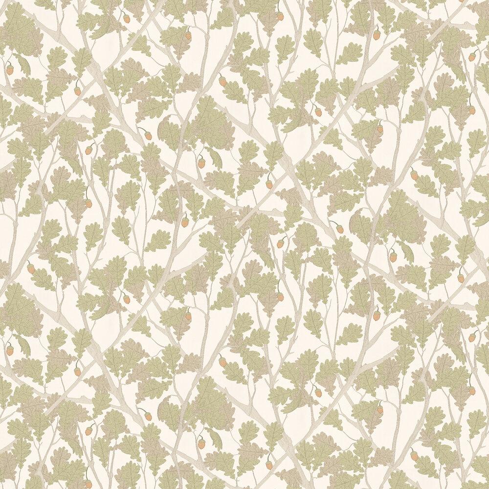 Osborne & Little Feuille De Chene Ivory / Pistachio Wallpaper - Product code: W6430-04