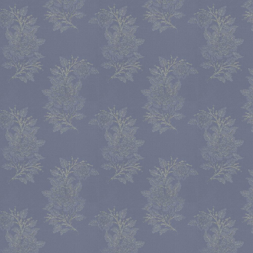 Osborne & Little Ajoure Blue / Silver Wallpaper - Product code: W6433-01