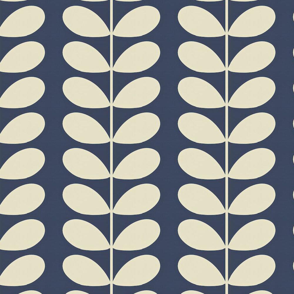 Giant Stem By Orla Kiely Navy Wallpaper Wallpaper Direct