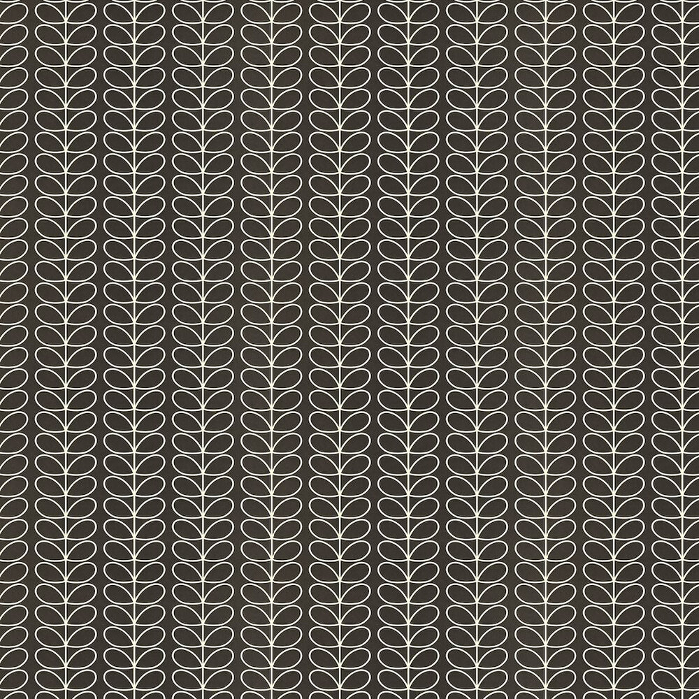 Orla Kiely Linear Stem Black Wallpaper - Product code: 110398