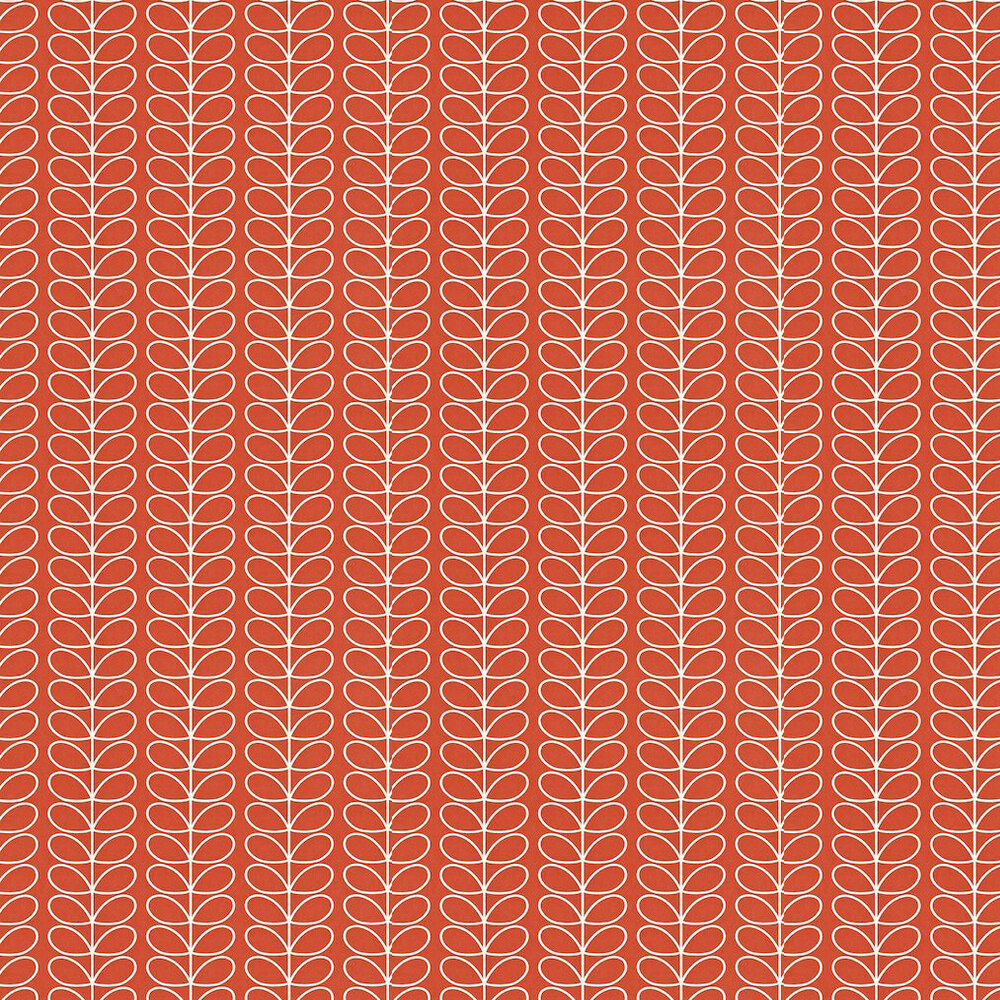 Orla Kiely Linear Stem Red Wallpaper - Product code: 110399