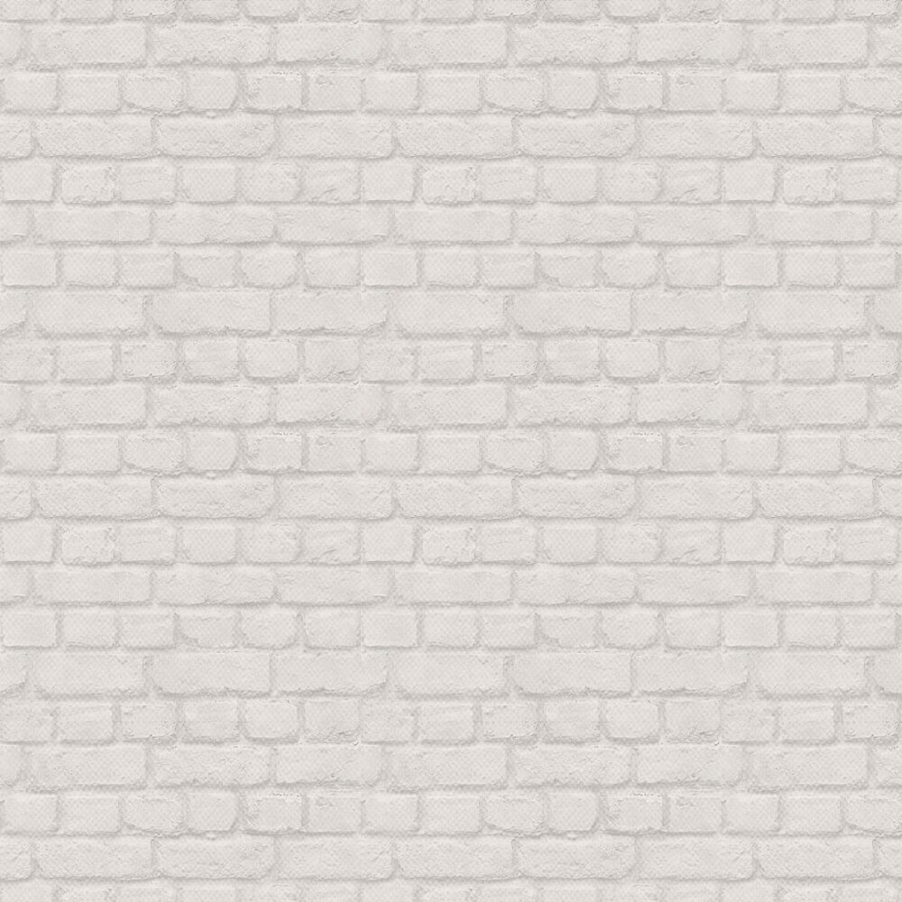 Brick Wallpaper - Pale Grey - by Albany
