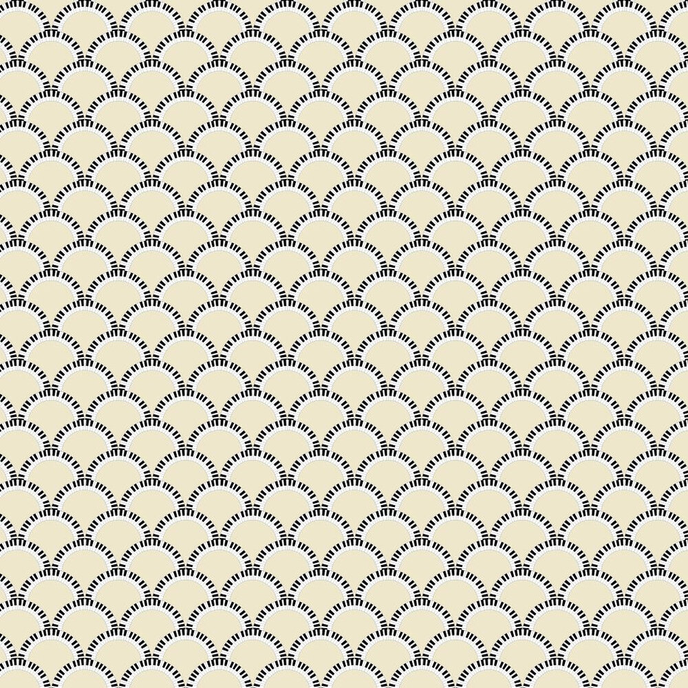 Jazz Age 01Y Comp Wallpaper - Pale Lemon / Black - by Art Decor Designs