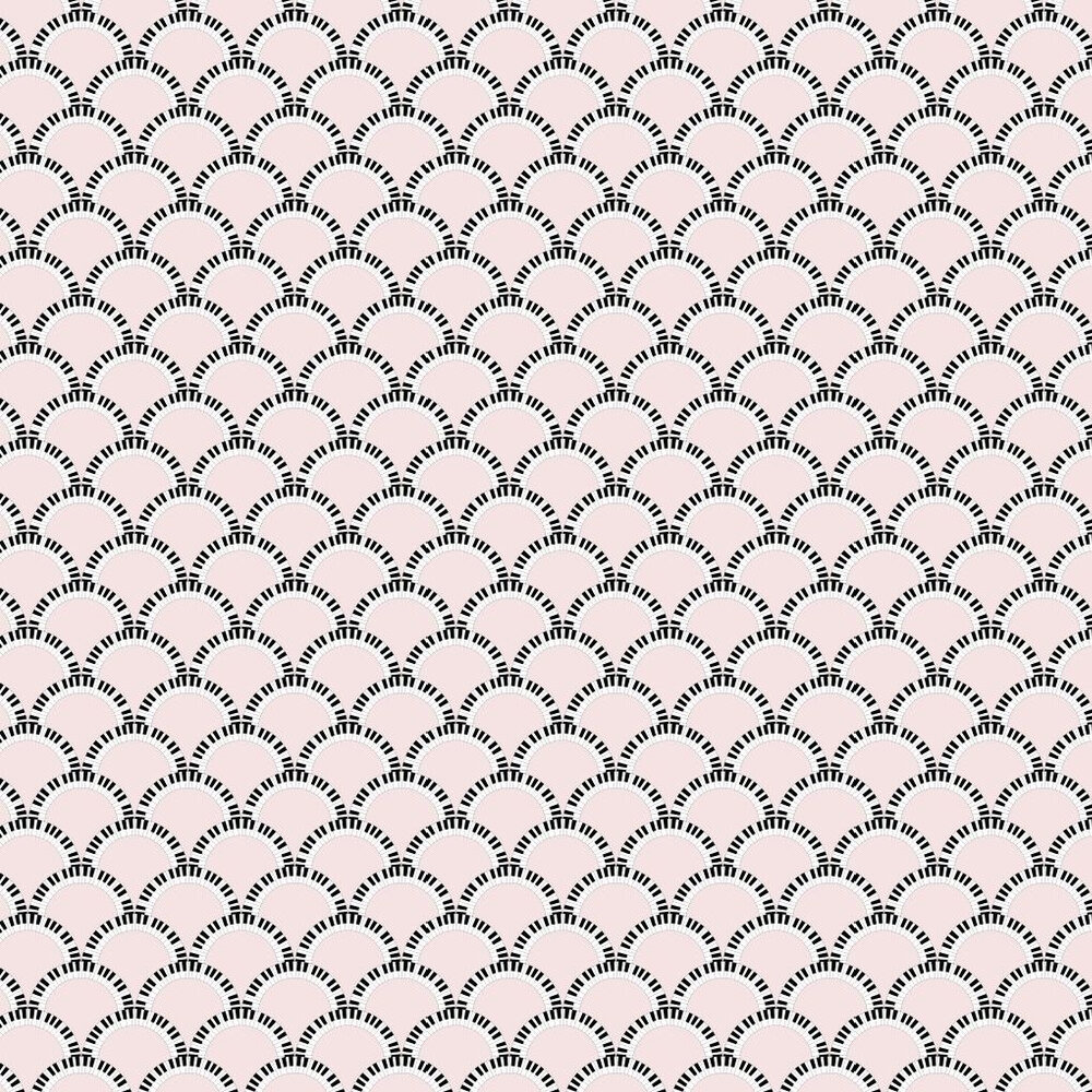 Jazz Age 03P Comp Wallpaper - Pale Pink / Black - by Art Decor Designs