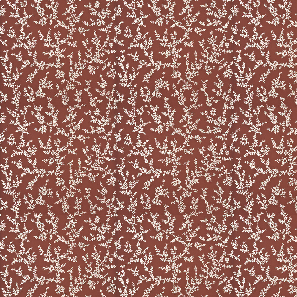 G P & J Baker Shadow Fern Lacquer Red Wallpaper - Product code: BW45037/6
