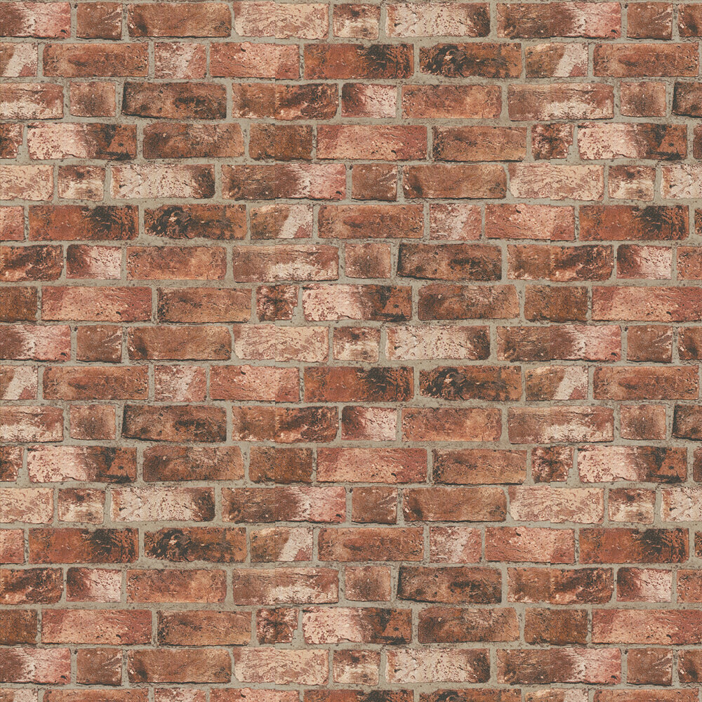 Distinctive Brick Wallpaper - Red - by Albany