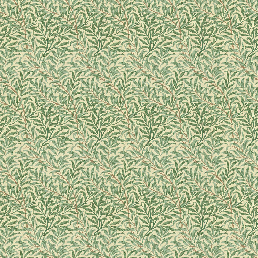 Willow Boughs Wallpaper - Green  - by Morris