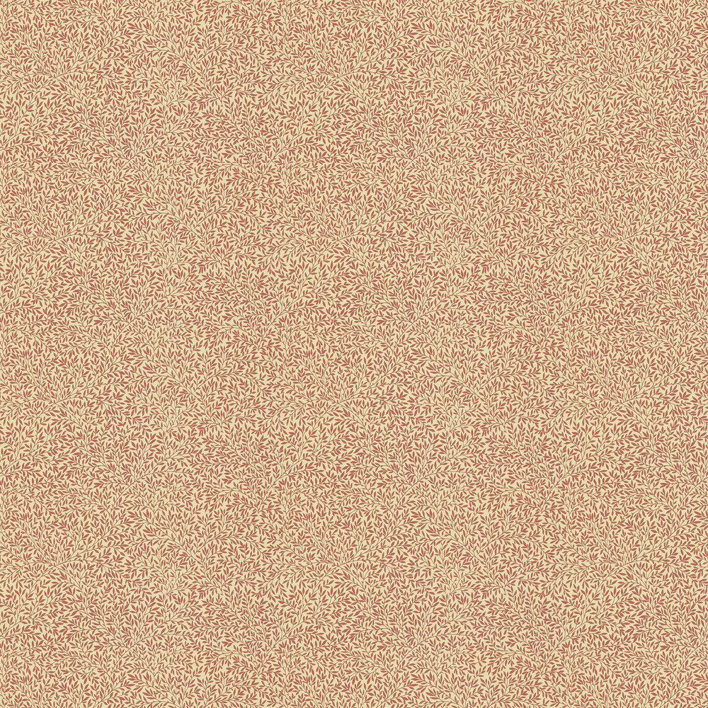 Standen Wallpaper - Beige / Brick Red - by Morris