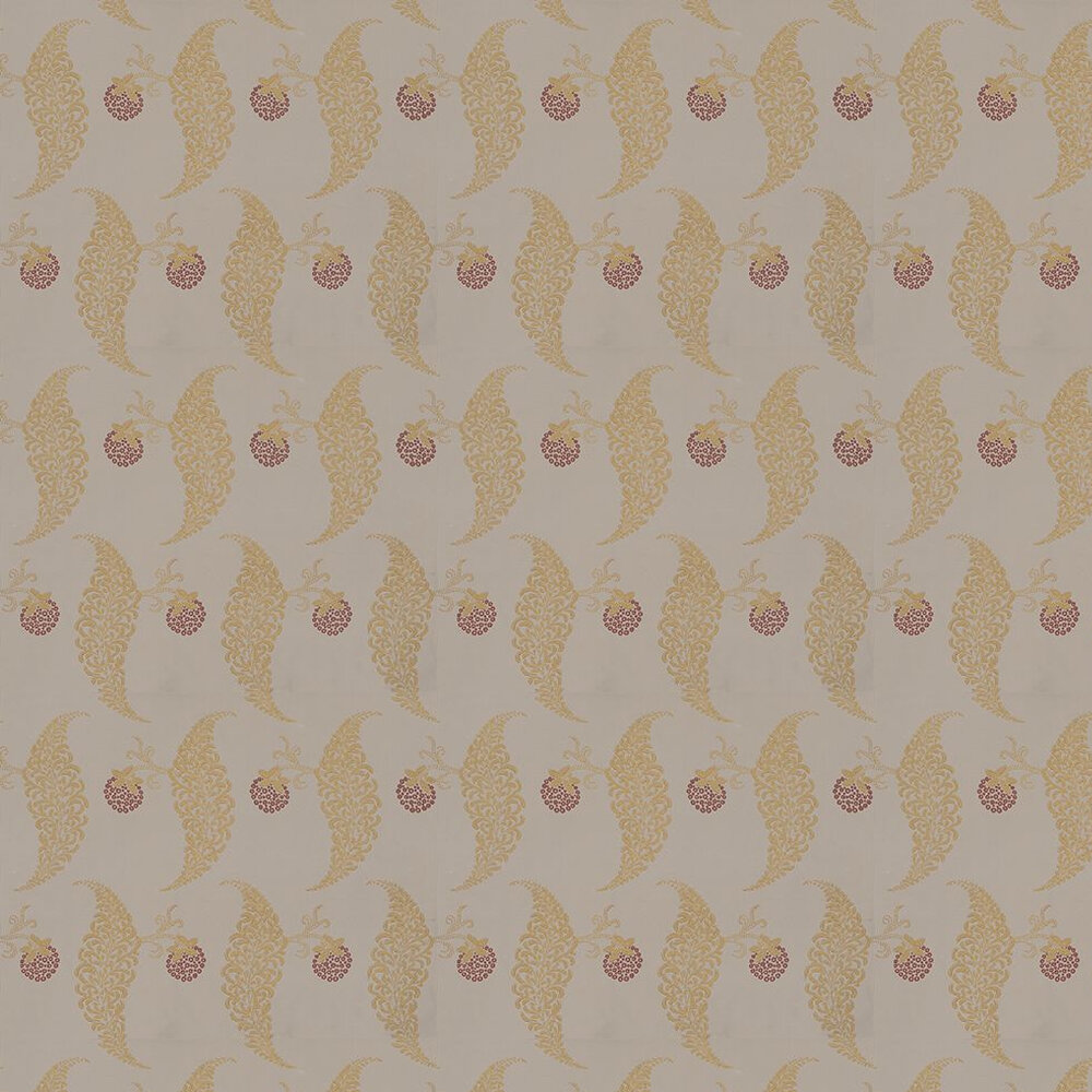 Rosslyn Wallpaper - Metallic Gold / Taupe - by Farrow & Ball