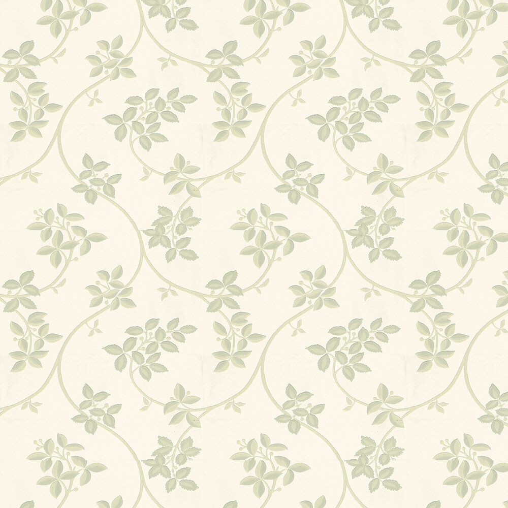 Ringwold Wallpaper - Pale Green / Off White - by Farrow & Ball