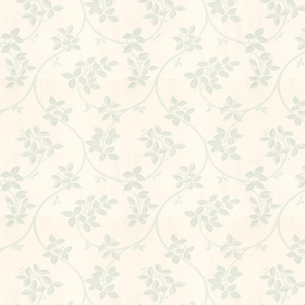 Ringwold Wallpaper - Pale Green / Blue / Off White - by Farrow & Ball